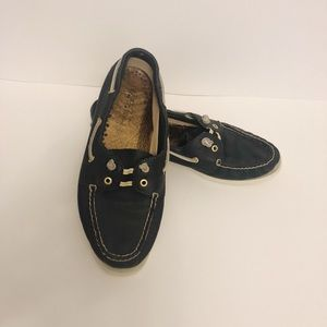Sperry Top Siders | Navy Leather Boat Shoes EUC